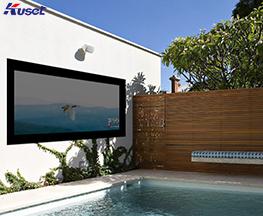高清75寸游泳池镜面电视